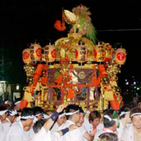 Mikoshi Togyo Procession of Shinko Ceremony at Gion Festival